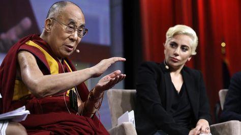 Lady Gaga publicó la foto con el Dalái Lama en su cuenta de Instagram.