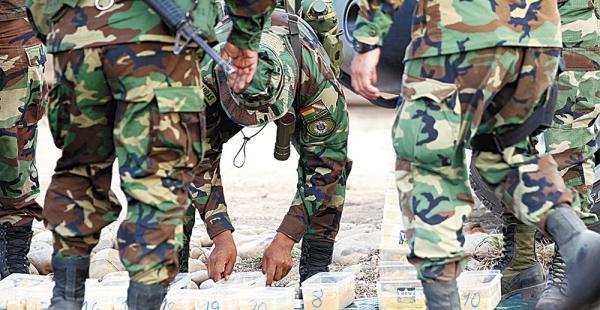 Entre enero y marzo, la Policía decomisó 70 t de droga, casi la misma cantidad que en el primer semestre de 2015