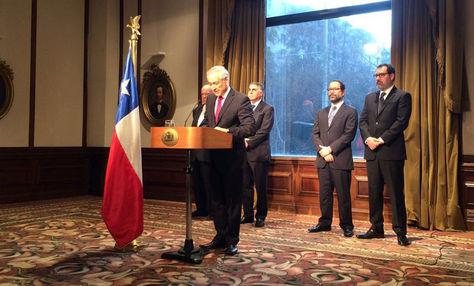 Conferencia de prensa del canciller de Chile, Heraldo Muñoz