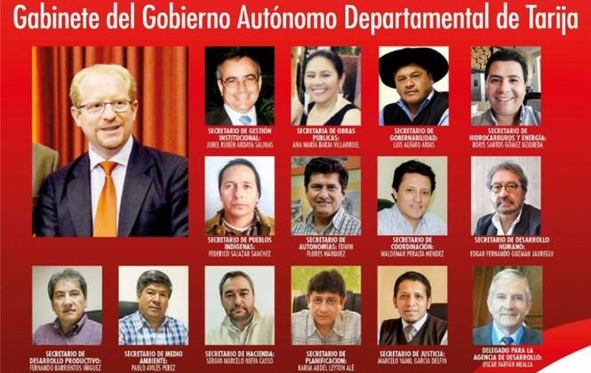 Gobernador de Tarija renueva su gabinete con seis nuevos secretarios