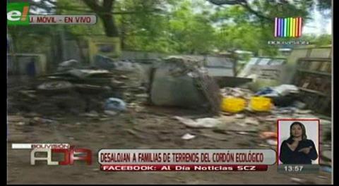 Desalojan familias asentadas en el cordón ecológico