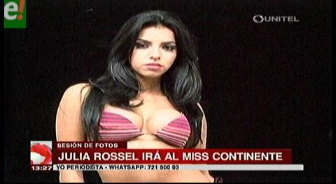 Julia Rossel nos representará en el Miss Continentes Unidos 2016