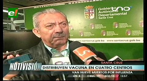Gobernación cruceña garantiza vacunas contra la Influenza