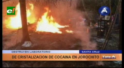 La Felcn destruyó un laboratorio de droga en Jorochito
