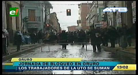 Oruro: 40 instituciones afiliadas a la COD acatan paro nacional de 72 horas