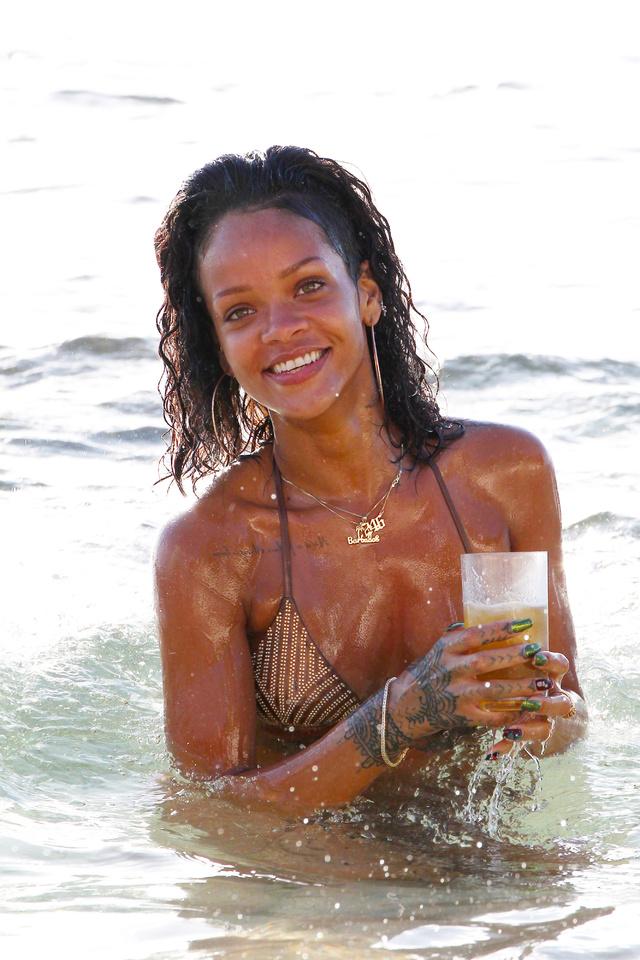La cantante, durante sus vacaciones en la isla en 2013.