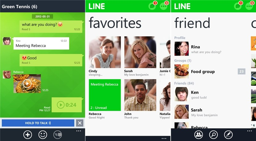 Line Messenger en Windos Mobile