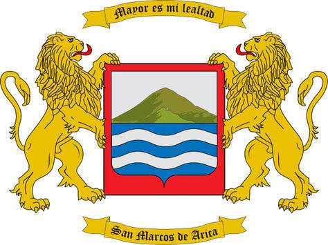 El escudo de armas de la ciudad de Arica, Chile. Foto: internet