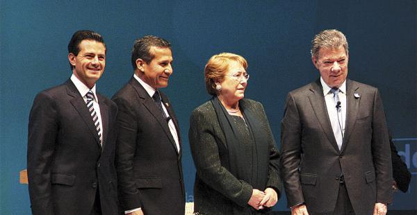 Cuatro presidentes reforzaron vínculos comerciales entre sus países a través de la Alianza del Pacífico