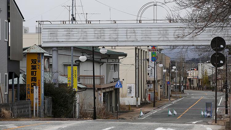 Una calle en la zona de exclusión de Fukushima