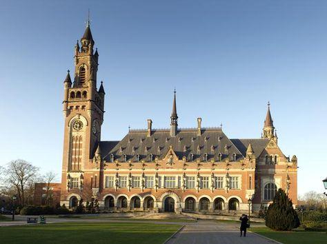 El Palacio de la Paz, sede la Corte Internacional de Justicia (CIJ), en La Haya, Holanda.