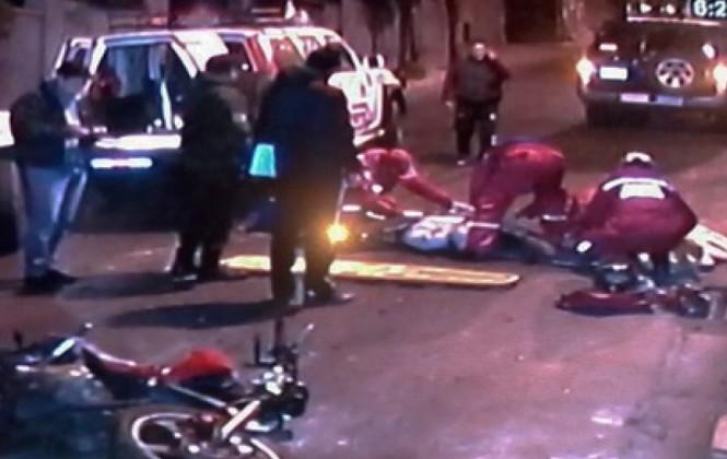 Vehículo del ministerio de Gobierno protagoniza un accidente de tránsito y deja dos heridas