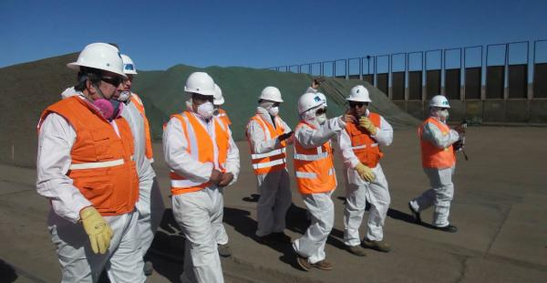 La comitiva boliviana llegó a Chile para verificar puertos