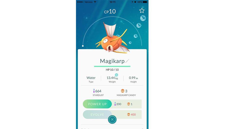 Magikarp es otro tipo de Pokémon que cuesta evolucionarlo. (Foto: Nintendo)