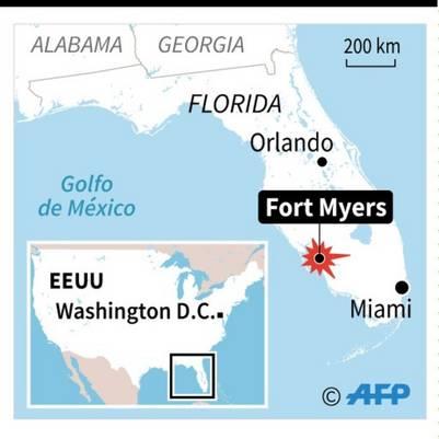 Localización de Fort Myers en Florida / AFP