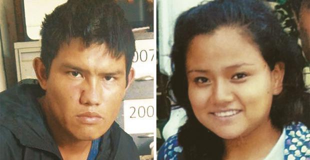 Arturo Vega fue enviado ayer a la cárcel. A la derecha, su víctima, con la que procreó dos niños