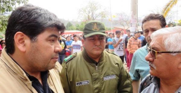 El FIscal Yimmy Cuéllar con el titular de la Junta Electoral, Condtantino Valdez