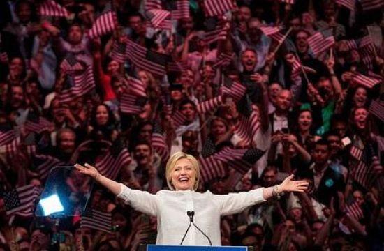 Hillary Clinton, la candidata del Partido Demócrata a la presidencia de los Estados Unidos. Foto: @NBCNews
