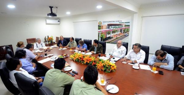 El consejo municipal de seguridad ciudadana se reunió en el despacho del alcalde