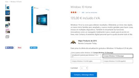 Precio Windows 10