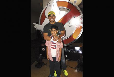 Puntuales. Álvaro Retamozo y su hijo, Alejandro