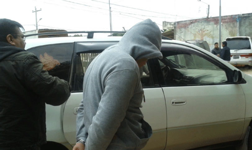 DETENIDO. El sujeto de 23 años ayer fue trasladado a la cárcel de Palmasola por abusar de una menor de 12 años.
