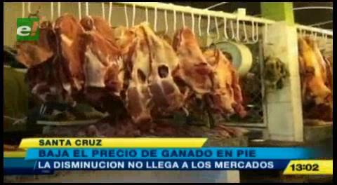Se mantiene el precio de la carne de res en Santa Cruz
