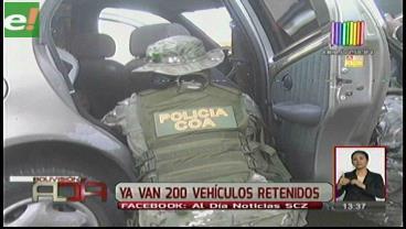 200 vehículos retenidos en operativo sorpresa en surtidores