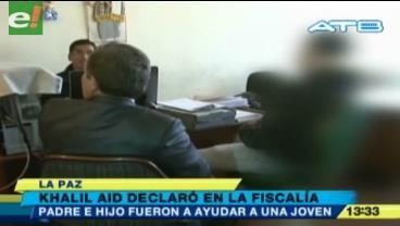 Hijo de Kemel Aid prestó declaraciones ante la Fiscalía