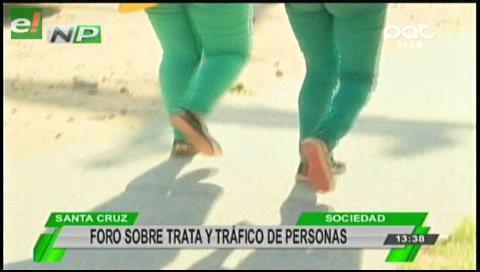 Foro sobre Trata y Tráfico de personas en el CCP Santa Cruz