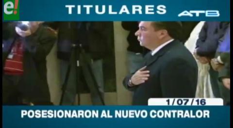 Titulares de TV: Posesionaron al nuevo Contralor del Estado