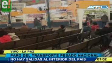 Suspenden los viajes de la terminal de buses de La Paz