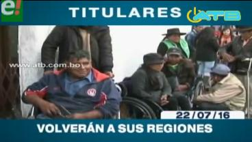 Titulares de TV: Personas con discapacidad abandonarán la vigilia que instalaron en La Paz