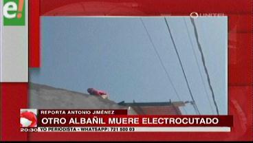 Albañil muere electrocutado en el Plan Tres Mil