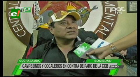 Cochabamba: Campesinos y cocaleros podrían quedar fuera de la COD