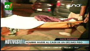 Santa Cruz: Hombre muere al caer del piso 10 de un condominio