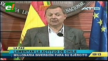 Presidente del Senado critica actitud belicista de Chile