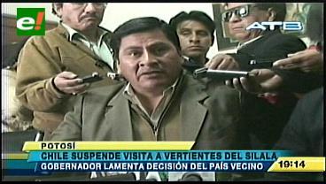Gobernador de Potosí lamenta que Chile posponga visita al Silala