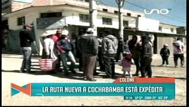 Colomi deja expedita la ruta Cochabamba-Santa Cruz