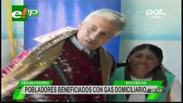 YPFB amplía red de gas a domicilio al Desaguadero