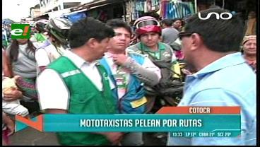 Cotoca: Mototaxistas se pelean por las rutas