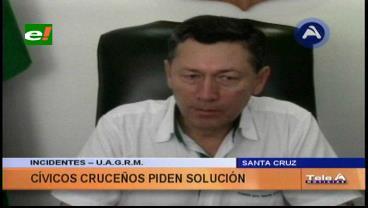 Cívicos piden a las autoridades y estudiantes dar una solución de fondo al conflicto de la Uagrm