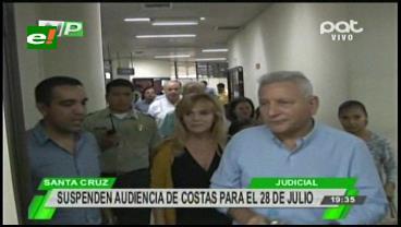 Suspenden la audiencia de apelación del gobernador Rubén Costas