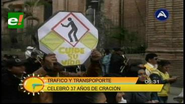 Santa Cruz: Dirección de Tráfico y Transporte celebró 37 aniversario