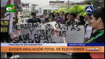 Uagrm: Estudiantes marchan y el ICU todavía sin resultados
