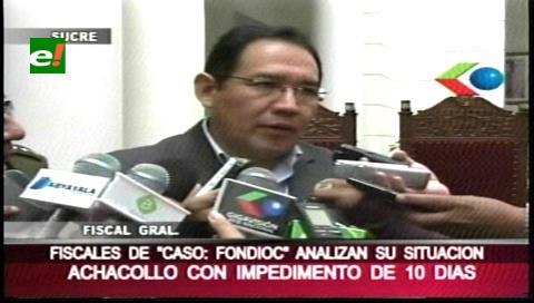 Fiscales volverán a convocar a Achacollo y Guerrero ratifica impedimento de 10 días