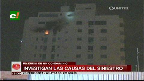 Incendio en el noveno piso de un condominio