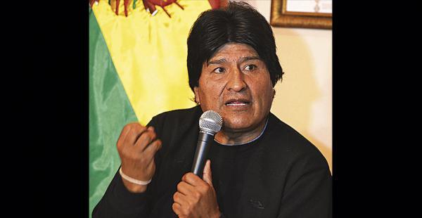 El presidente Evo Morales se refirió ayer a los obispos