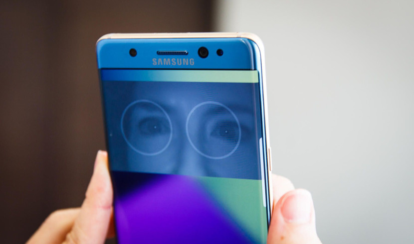 Escáner de Iris del Note 7