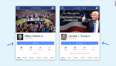 facebook clinton trump